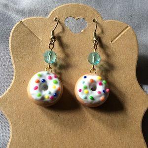 Jewelry - Donut fish hook earrings